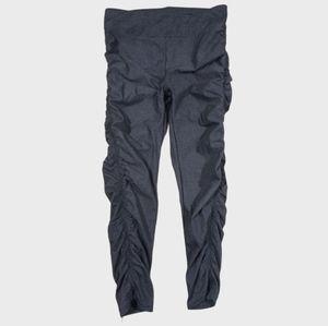 Sweaty Betty Ruched Side Capri Leggings Small Gray